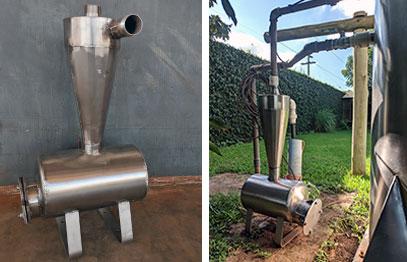 Trampa de arena kehler filtro agua inox